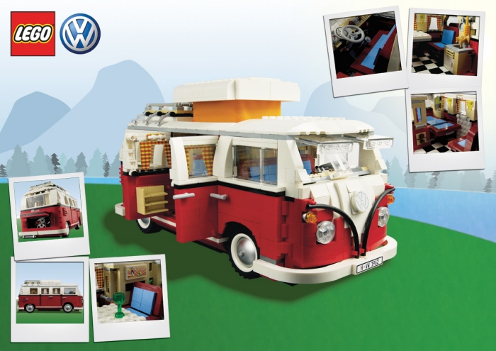 1962 Volkswagon Campervan in Lego by John-Henry Harris.