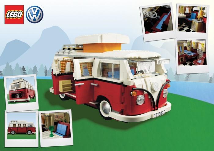 1962 Volkswagon Campervan in Lego by John-Henry Harris.