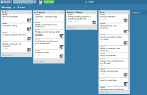 Wedding Trello Board